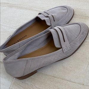 Lucky brand gray suede loafers